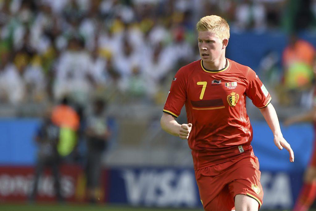 Kevin de Bruyne im belgischen WM Trikot mit der Trikotnummer 7 (Foto Shutterstock)