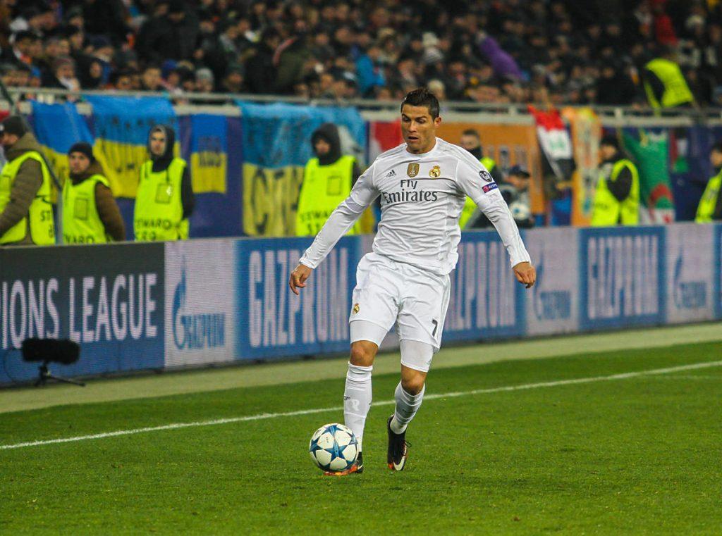 Die wohl bvekannteste Nummer 7 der Welt: Christiano Ronaldo von Real Madrid (Foto Shutterstock)