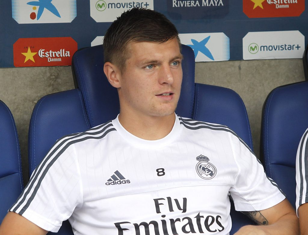 Toni Kroos mit der Nummer 8 im Real Madrid Trikot 2018 (Foto Shutterstock)