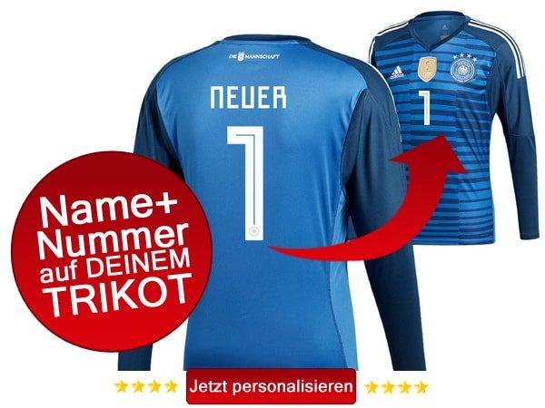 Jetzt das neue DFB Trikot 2018 mit eigenem Flock und Spielername bestellen.